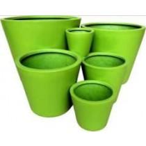 Medium Large Shiny Green Fiberglass Planter