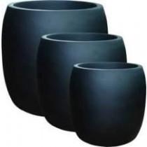 Matte Black Medium Pot Fiberglass Planter