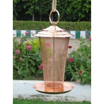 Copper Color Designer Metal Bird Feeder
