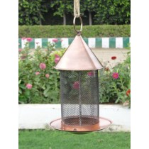 Black Wire Design Metal Bird Feeder