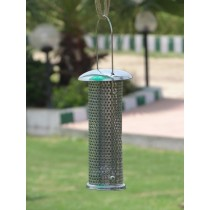 Silver Tube Shape  Metal Bird Feeder