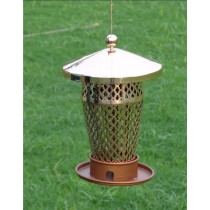 Shiny Copper Designer  Metal Bird Feeder