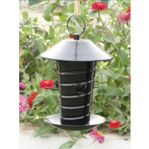 Black Metal With Plastic Coating Bird Feeder