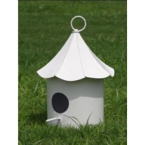 White Metal Hanging Bird House
