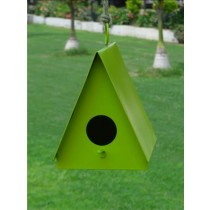 Green Metal Hanging Bird House