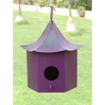 Violet Decorative Metal Bird House