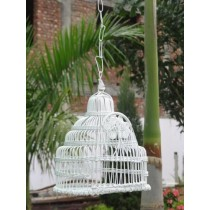 White Decorative Wire  Metal Bird House