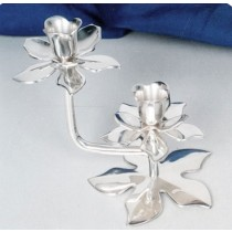 Lotus Shaped Candle Stand With 2 Lights