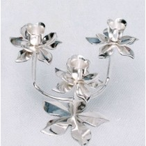 Lotus Shaped Candle Stand With 3 Lights