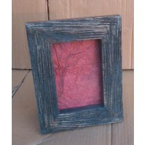 Dark Wooden Texture Photo Frame