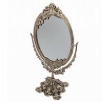 "12'' x 9""Vintage Decor White Metal Decorative Stands Mirror"