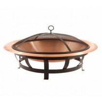 Copper Bowl With Iron Decorate Stand And Net Cover Fire Pit