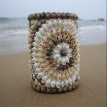 Decorative Conch Craft 11-12cm Pen Holder