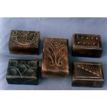 """Decorative  Design Square Mango Wooden Box (4'' x 6"""")"""
