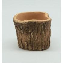 Natural Wood Finish 9 Cm Fiberglass Pots