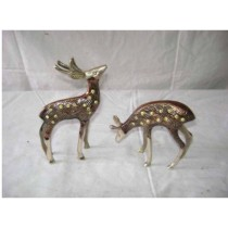 Deer Pair Antique Work 6""