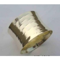Hammered gold plated Iron Napkin Ring