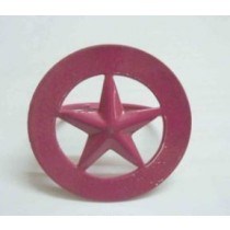 Iron Napkin Ring Round star Pink Color Finish