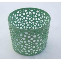 Iron Napkin Ring cutting design green Finish