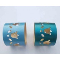 2 Colors cut out design Iron Napkin Ring(2 Set)