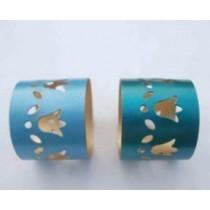 2 Colors cut out design Iron Napkin Ring(2 Set)