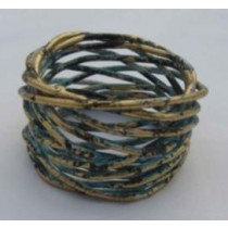 Iron Wire Napkin Ring Shaded Multi Color