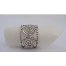 Brass Wire Napkin ring Silver Antique Finish (3.0 cm. Width)
