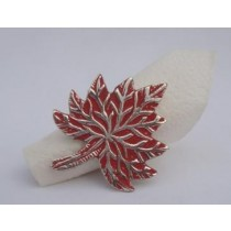 Brass Casting Napkin ring Silver Red Color Finish