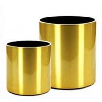 Circular Metal Planters (GOLD)  Size 30 cm X 30 cm