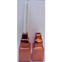 Aluminium Candle stand Copper plating, size 8 x 8 x17cm