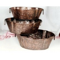 Copper antique planter, size 50x30x15cm