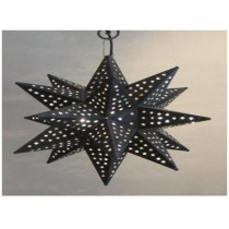 Disco black hanging star lantern size-16""
