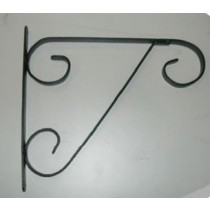 "Black Decorative Hanging Basket Bracket 13"" L x 16"" H"