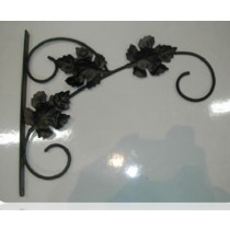 "Black Mapple Leaf Designer Hanging Basket Bracket 16"" L x 14"" H"