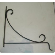 "Black L Shape Hanging Basket Brackets 13"" L x 12.5"" H"
