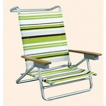 Multicolored Beach Chair With 5 Positions