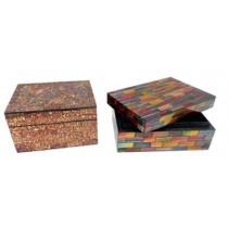 Amazing Checkered Wood Jewelry Box