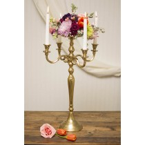 Gold Brass Floor Candelabra 85 Cm
