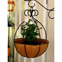 10 ''Decorative Black Hanging Spanish Basket