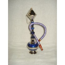 10'' Decorative Violet Acrylic Brass Finish Hookah