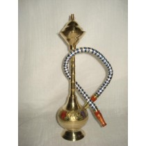 10'' Designer Golden Brass Single Hose Hookah