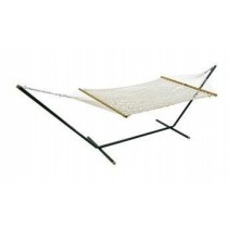11 Ft Cotton Rope Hammock With 12 Ft Steel Stand
