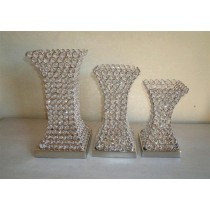 13 X 6.75 Inches Crystal Candle Holder