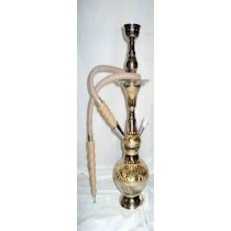 14'' Decorative Black & Golden Brass Hookah
