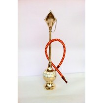 14'' Decorative Elegant Golden Brass Hookah