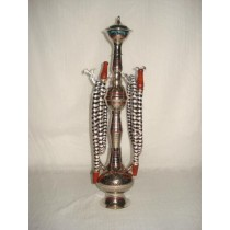 16'' New Designer Brass Hookah With 2 Hose