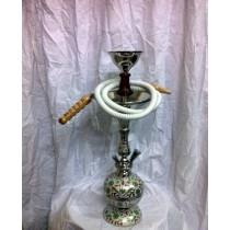 20'' Single Hose Decorative Vase Style Brass Hookah