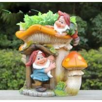2 Garden Gnome Large Mushroom Planter