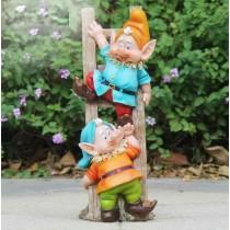 2 Gnome Garden Sculpture(15.7 X 15.4 X 38.8 CM)