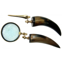 2 Pc Natural Polish Magnifier Set With Horn Handle